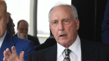 The real former prime minister Paul Keating.