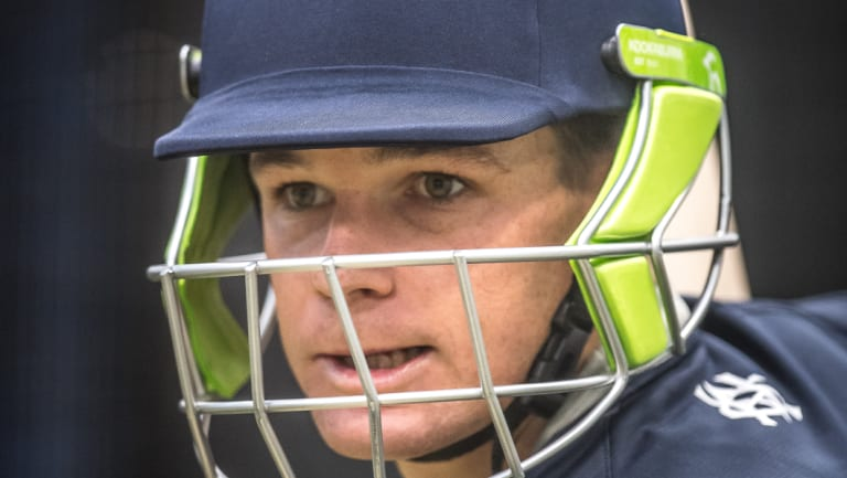 Peter Handscomb won't play for Victoria early in the season if picked for Australia.