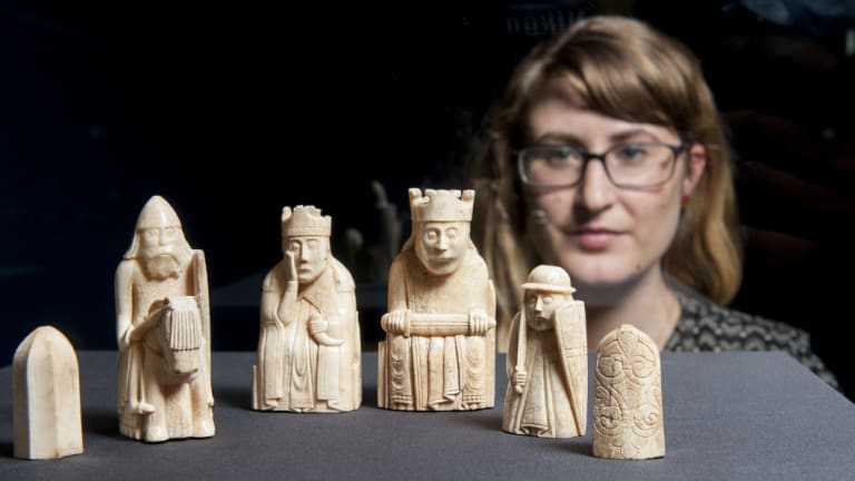 The famous Lewis chessmen were probably carved from the tusks of Greenland walruses.