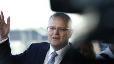 Scott Morrison in the final week of the election campaign.