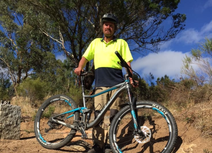 Russell Eckersley loves the adventure that comes with trail building.