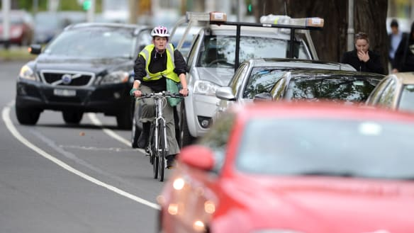 Bold plan to give cyclists priority on St Kilda Road