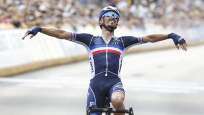 Matthews rues 'missed opportunity' as Alaphilippe wins second road race world title