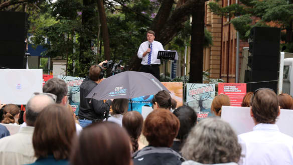 MP speaks out against government's abortion bill at pro-life rally
