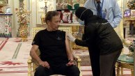 Brunei's Sultan Hassanal Bolkiah receives a dose of COVID-19 vaccine at the royal palace in April.