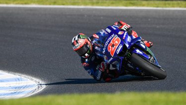 Fourth time lucky: Maverick Vinales overcame a slow start to win the Australian Motorcycle Grand Prix at Phillip Island.