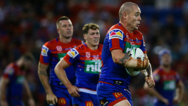 Knights prop David Klemmer has hit the ground running since moving to Newcastle.