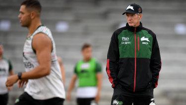 Intimidating figure: South Sydney Rabbitohs coach Wayne Bennett.