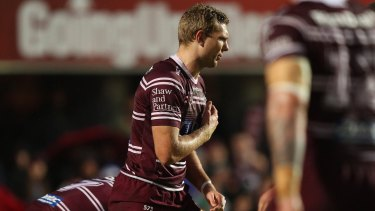 Tom Trbojevic injured his pectoral muscle in a huge blow to Manly.