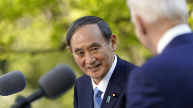 Japanese Prime Minister Yoshihide Suga was the first foreign leader invited to the White House after Joe Biden's inauguration.