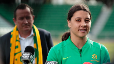 Matildas captain Sam Kerr said the World Cup in Australia would boost grassroots participation.