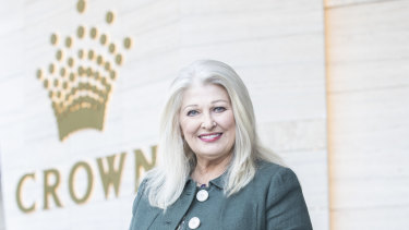 Helen Coonan said she does not expect to occupy the top job at Crown for long.
