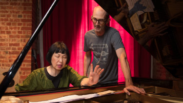 Margaret Leng Tan and Erik Griswold  during rehearsals in Melbourne.