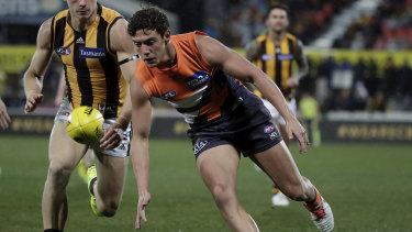 Jye Caldwell in action for the Giants.