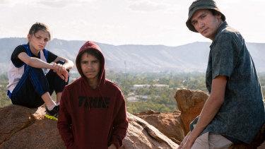 Robbie Hood's winning trio – Georgie Blue (Jordan Johnson), Robbie (Pedrea Jackson) and Big Johnny (Levi Thomas).