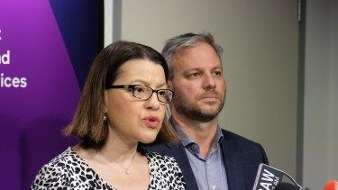 Victorian health minister Jenny Mikakos and chief health officer Brett Sutton.