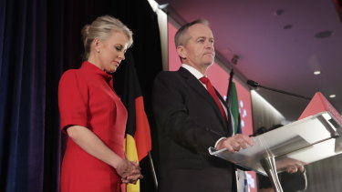 """I wish we could have done it for Bob"": Bill Shorten gives his concession speech."