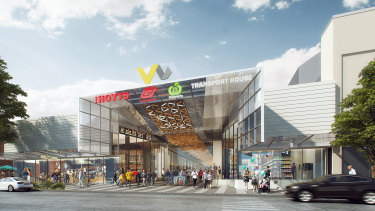 The Valley Metro redevelopment will completely replace the existing Brunswick Street entrance.