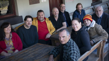 The team behind the film about Pemulway: (clockwise from left) Lynnette Marlow, Andrew Dillon, Jon Bell, Reg Cribb, Mike Jones, Ian Sutherland, Phil Noyce, Richard Green, Catriona McKenzie and Colin Isaacs.