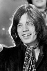 Mick Jagger at the Chevron Hotel press conference.
