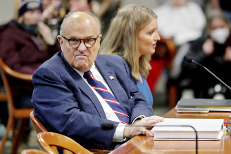 Rudy Giuliani, former president Donald Trump's personal lawyer, pictured last month.