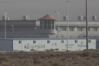 A detention facility in the Kunshan Industrial Park in Artux, Xinjiang.