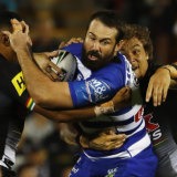 In the doghouse: Aaron Woods' future is uncertain at Canterbury.