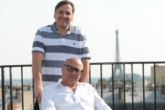 Catch Group founders Hezi (standing) and Gabby Leibovich have sold the online retailer to Wesfarmers for $230 million.