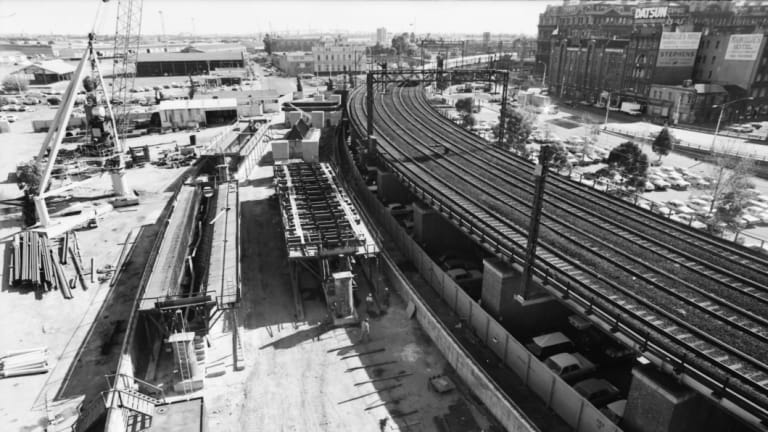 Construction of the City Loop