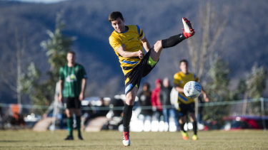 Nicolas Villafane won the golden boot alongside Canberra striker Thomas James,