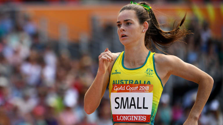 Keely Small was the Australian team flag bearer at the Youth Olympics opening ceremony.