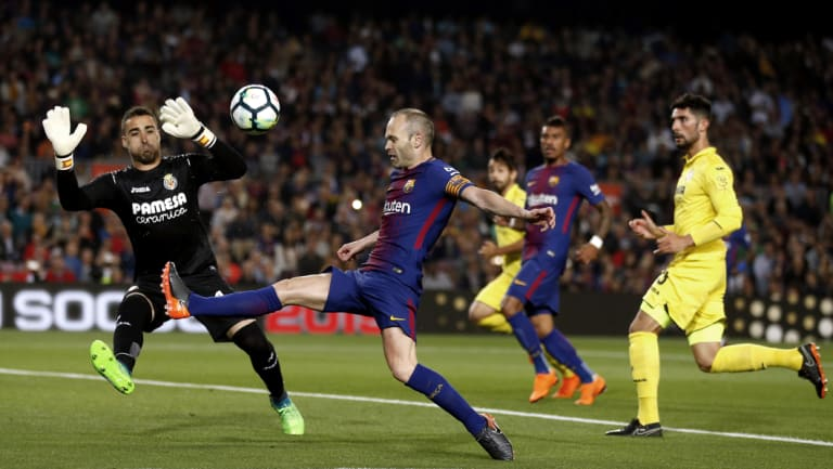 Storied career: Iniesta established himself as one of the world's top players.