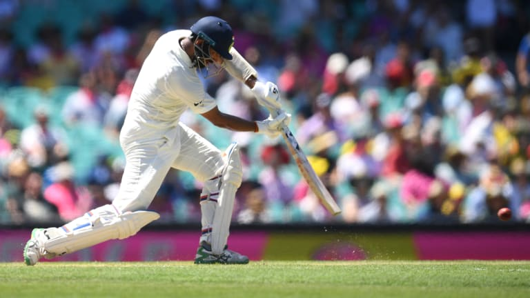 Drive: Cheteshwar Pujara's performance in the current series is among the best from a touring batsmen on these shores.
