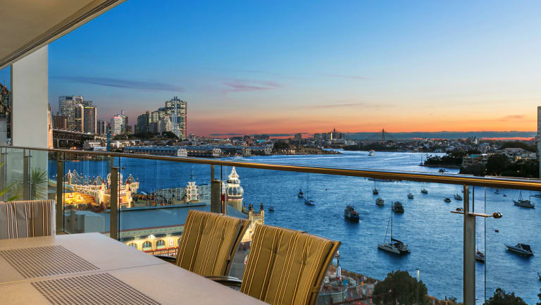 The view from Medich's Milsons Point apartment, that he is unlikely to ever enjoy again.