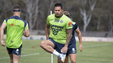Raiders centre Joey Leilua is ready to go for round one against the Titans.