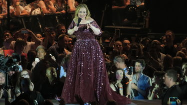 Adele in Melbourne last May.