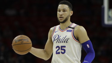 """Melbourne-born Ben Simmons of the 76ers is being warned by fans about the """"Kardashian curse""""."""