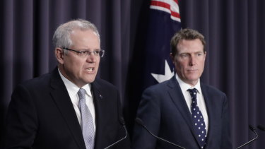 Prime Minister Scott Morrison and Attorney-General Christian Porter.