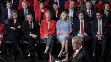 Much of Labor's front bench were at the venue jam-packed with 500 ALP volunteers and supporters.