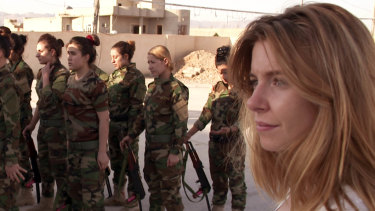 Stacey Dooley, pictured here in previous documentary, Stacey on the Frontline: Girls, Guns and Isis.