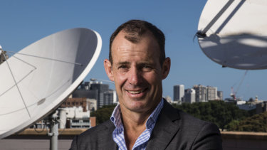Network Ten CEO Paul Anderson at the television networks headquarters in Pyrmont.