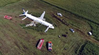 Pilot hailed as hero after bird strike disables Russian passenger jet