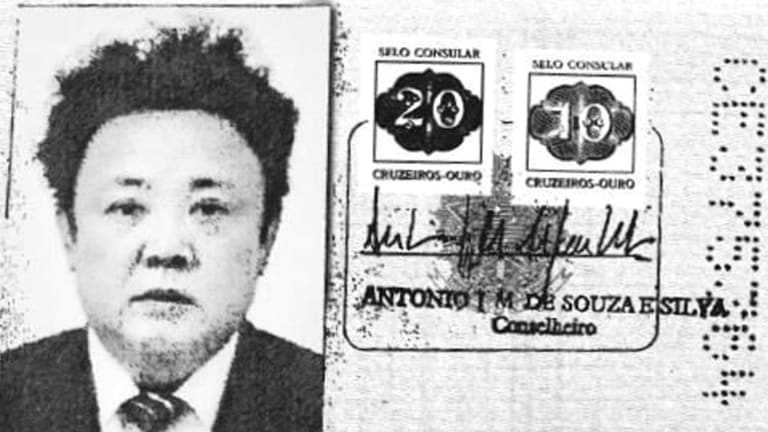 A scan of an authentic Brazilian passport issued to North Korea's late leader Kim Jong-il.