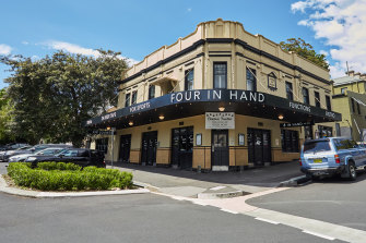 The Four in Hand Hotel in Paddington has been sold for $8.25 million.