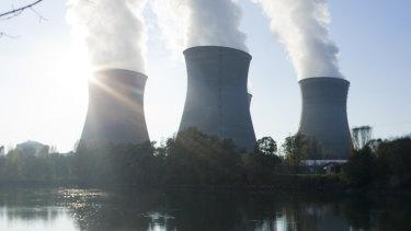 The Bugey nuclear power plant near Lyon, France.