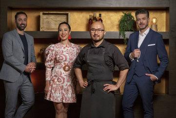MasterChef Australia judges and guest chef Khanh Nguyen.