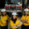 Volunteer firefighters from the Thornton Rural Fire Brigade.