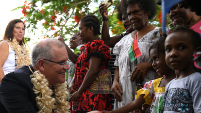 From the ocean to the east, it looks like Australia's Pacific policy is all at sea