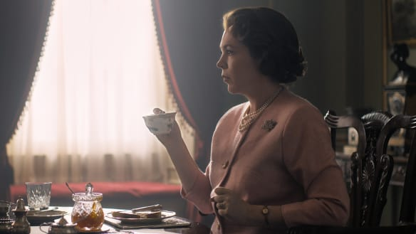 The Crown offers first glimpse of Olivia Colman as Queen Elizabeth II