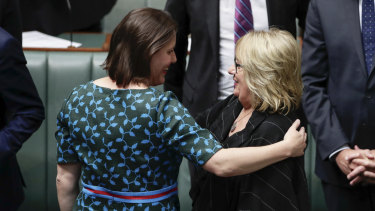 Retiring MPs Kelly O'Dwyer and Jenny Macklin.